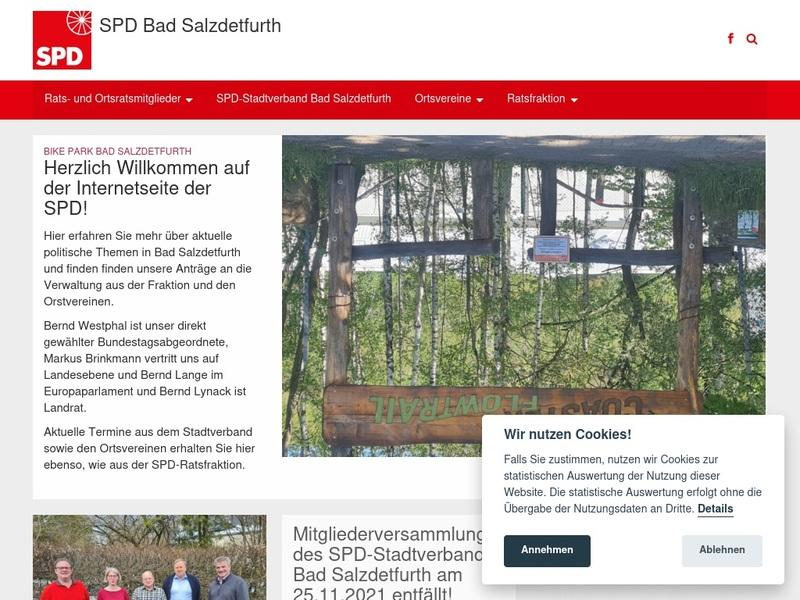 Screenshot von http://www.spd-badsalzdetfurth.de/